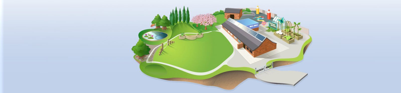 Animation of the school grounds